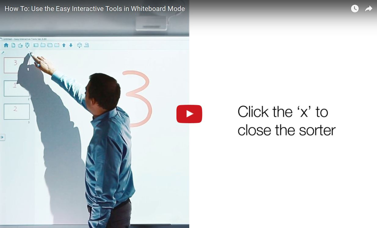 How to use Easy Interactive Tool in Whiteboard Mode
